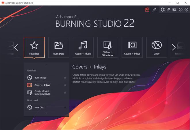 Burning Studio 22 Dark Theme