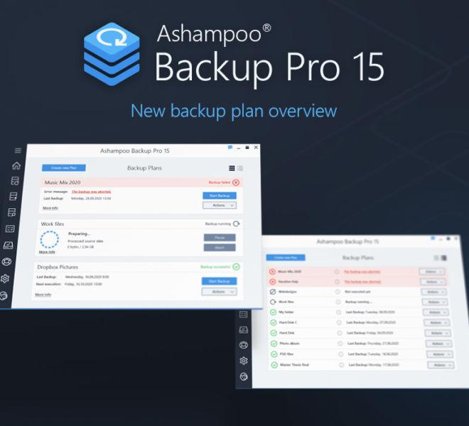Backup Pro 15 Backup Plan Overview